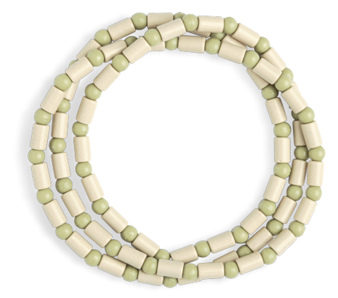 EM Ceramic necklace beige