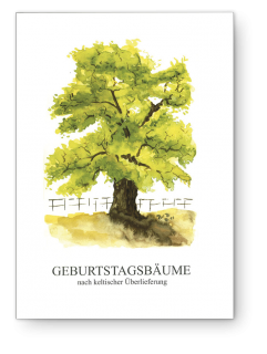 Birthday tree book, German