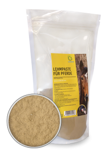Loam paste for horses